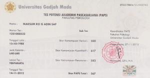 Contoh Setifikat PAPS